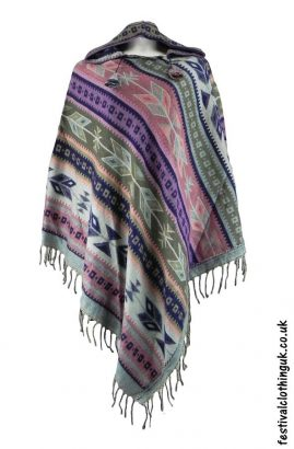Hooded-Festival-Poncho-Pink-Purple