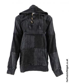 Hooded-Patchwork-Festival-Top-Charcoal