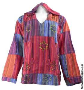 Hooded-Patchwork-Festival-Top-Red-Orange