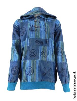 Hooded-Patchwork-Festival-Top-Turquoise