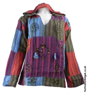 Hooded-Patchwork-Festival-Top-Turquoise-Green