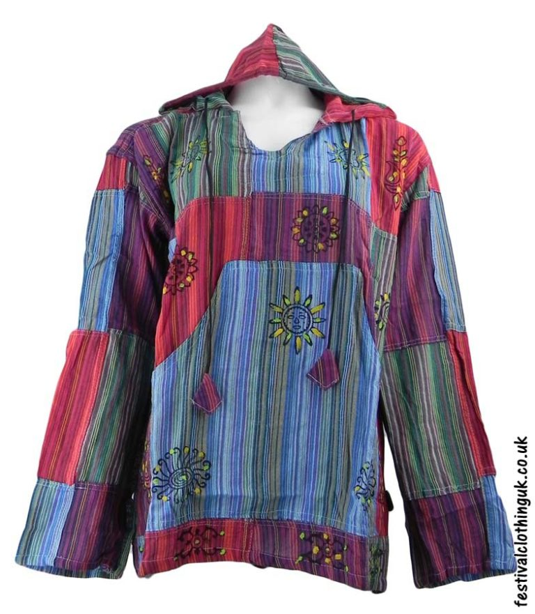 Hooded-Patchwork-Festival-Top-Turquoise-Purple