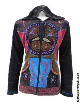 Hooded-Peace-Sign-Festival-Jacket-Black