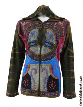 Hooded-Peace-Sign-Festival-Jacket-Green