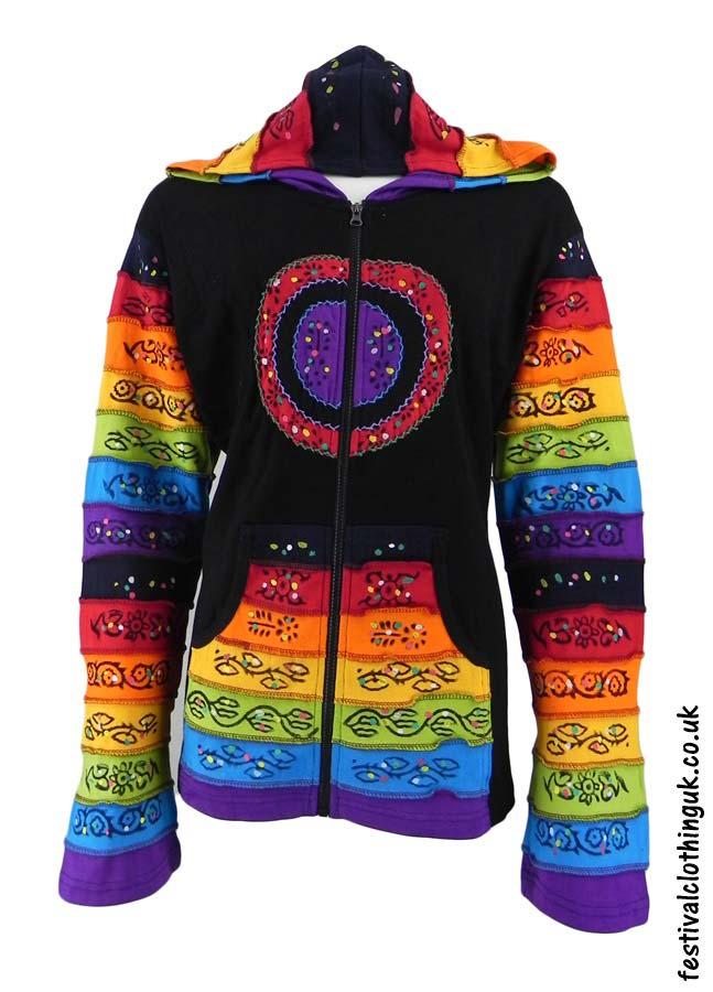 Hooded-Rainbow-Festival-Jacket-Black