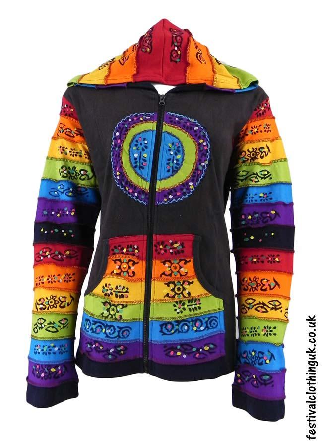 Hooded-Rainbow-Festival-Jacket-Brown