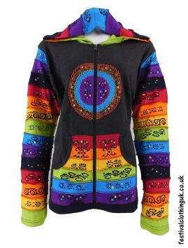 Hooded-Rainbow-Festival-Jacket-Brown