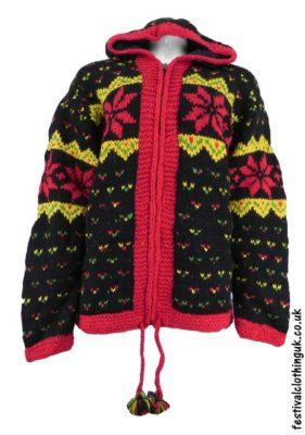 Wool Festival Jacket - Hooded Snowflake Jacket