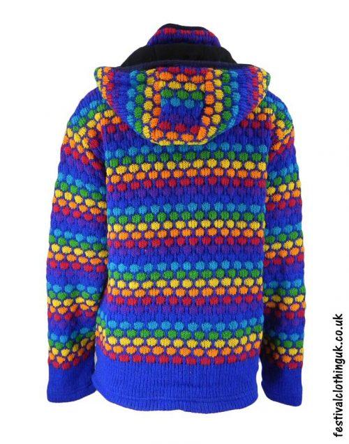 Hooded-Wool-Festival-Jacket-Blue-Rainbow-back