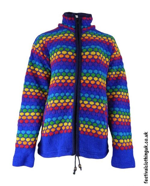 Hooded-Wool-Festival-Jacket-Blue-Rainbow-no-hood