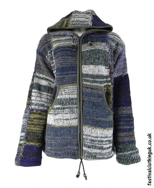 Hooded-Wool-Festival-Jacket-Green-Mix