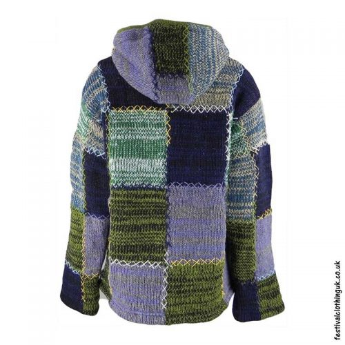 Hooded-Wool-Festival-Jacket-Green-Mix-back