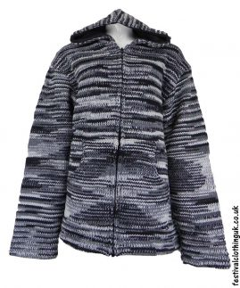 Hooded-Wool-Festival-Jacket-Tie-Dye-Black-White
