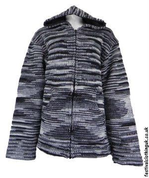 Hooded-Wool-Festival-Jacket-Tie-Dye-Black-White