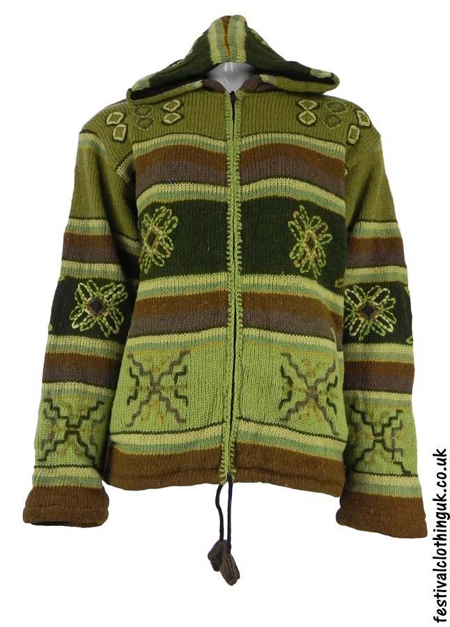 Hooded-Wool-Jacket-Green