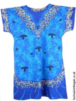 Long-Cotton-Festival-Kaftan-Dress-Unisex-Blue