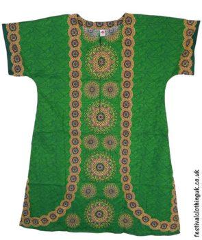Long-Cotton-Festival-Kaftan-Dress-Unisex-Green
