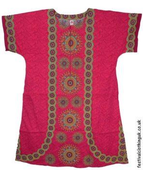 Long-Cotton-Festival-Kaftan-Dress-Unisex-Pink