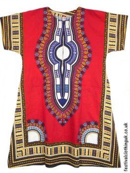 Long-Cotton-Festival-Kaftan-Dress-Unisex-Red
