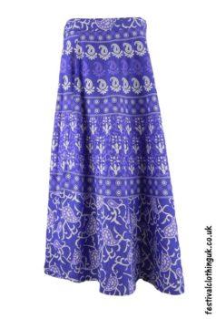 Long-Cotton-Throw-Festival-Wrap-Skirt-Purple