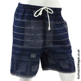 Long-Dark-Blue-Cotton-Festival-Shorts