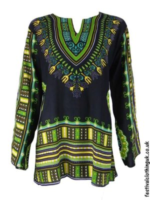 Long Sleeve Festival Tops - Dashiki Tunic