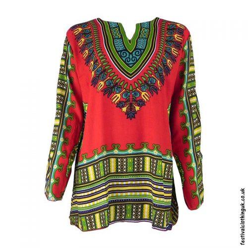 Long-Sleeve-Dashiki-Festival-Tunic-Red