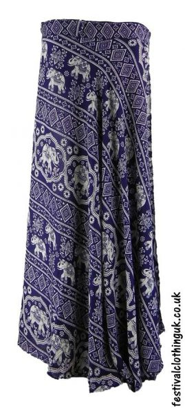 Long-Wrap-Elephant-Festival-Skirt-Blue