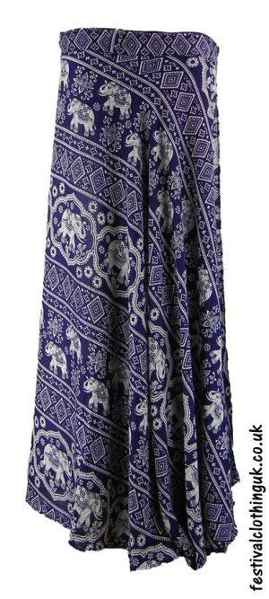 Long-Wrap-Elephant-Festival-Skirt-Blue