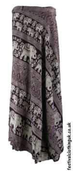 91c8015994 Long Cotton Throw Wrap Skirt - Purple - UK 10-16 | Festival Skirts ...