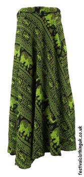 Long-Wrap-Elephant-Festival-Skirt-Green