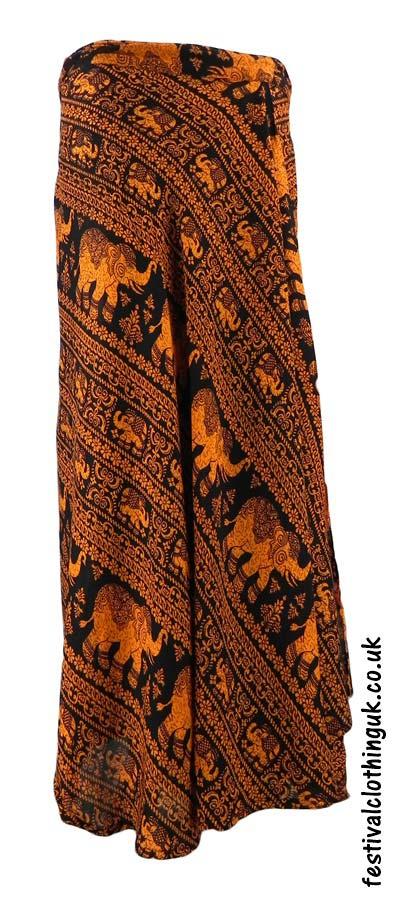 Long-Wrap-Elephant-Festival-Skirt-Orange