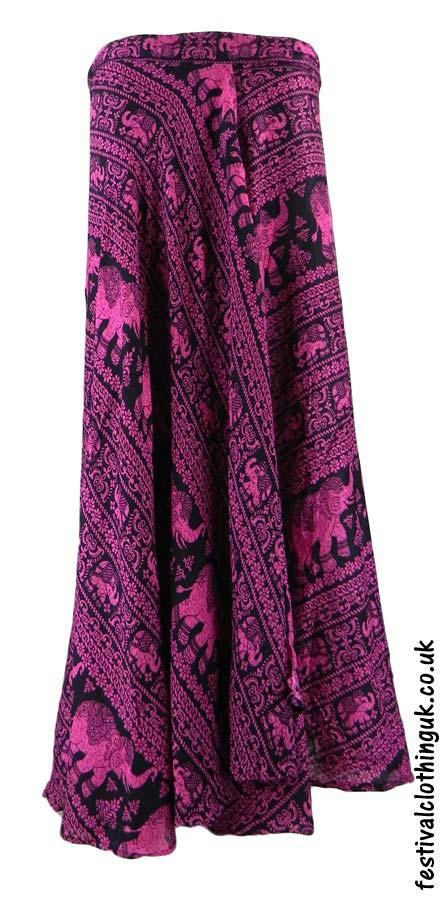 Long-Wrap-Elephant-Festival-Skirt-Pink