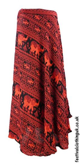 Long-Wrap-Elephant-Festival-Skirt-Red