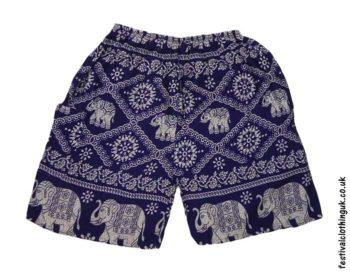 12159da8b ... Male-Elephant-Long-Festival-Shorts-Dark-Blue