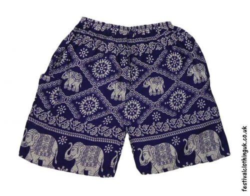 Male-Elephant-Long-Festival-Shorts-Dark-Blue