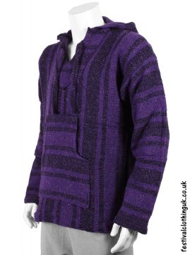 Mexican Jerga Baja Festival Top Purple Black