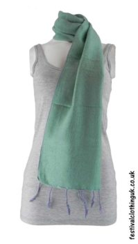 Mint-Green-Nepalese-Acrylic-Festival-Scarf