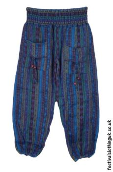 Multicoloured-Acrylic-Festival-Trousers-Blue