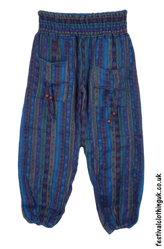 Multicoloured-Acrylic-Festival-Trousers-Blue