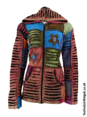 Embroidery Festival Hooded Jackets