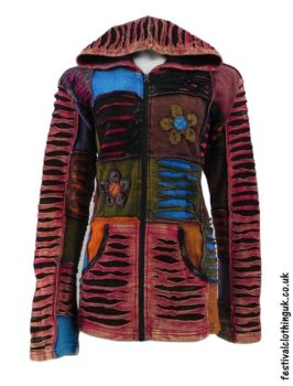 Multicoloured-Patchwork-Hooded-Festival-Jacket