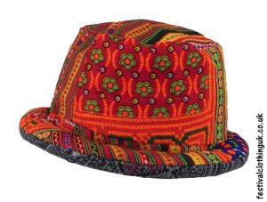 Multicoloured-Patchwork-Rimmed-Festival-Hat