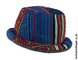 Multicoloured-Patchwork-Rimmed-Festival-Hat
