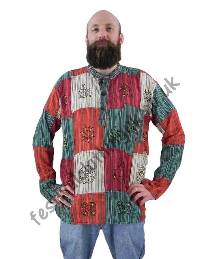 Patchwork-Festival-Grandad-Shirt-Male