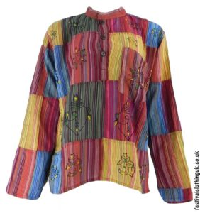 Patchwork-Festival-Grandad-Shirt-Multicoloured
