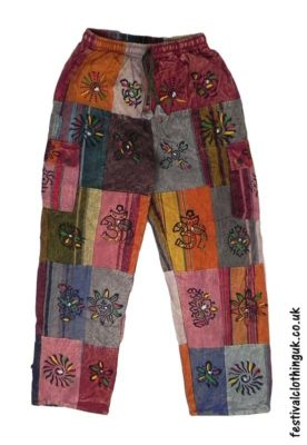 Wrapping Up Warm For Winter - Fleece Lined Patchwork Trousers