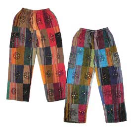 Patchwork Fleece Lined Trousers
