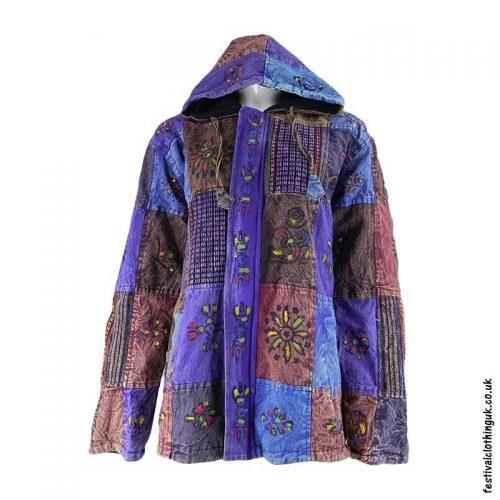 Patchwork-Hooded-Festival-Jacket-Purple