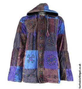 Patchwork-Hooded-Festival-Jacket-Purple